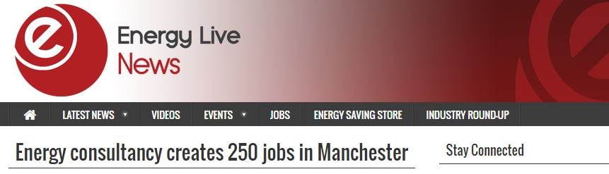 Energy consultancy creates 250 jobs in Manchester