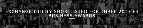 Exchange Utility Shortlisted For Three 2017 E3 Business Awards