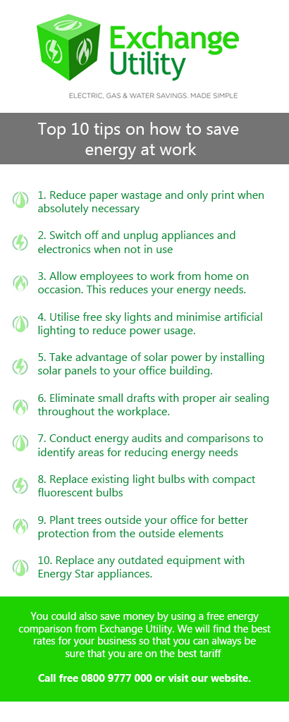 energy saving at work tips