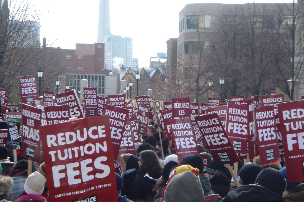 tuition fees rising for higher education students