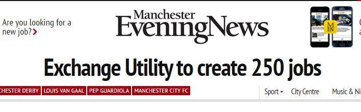 Exchange Utility to create 250 jobs