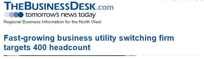 Fast-growing business utility switching firm targets 400 headcount