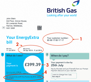 British Gas Business Bill Dudd